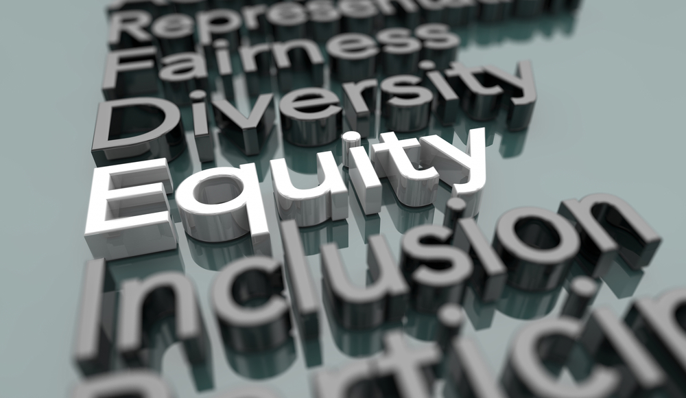 Equity,Diversity,Inclusion,Fairness,Equality,Words,3d,Illustration